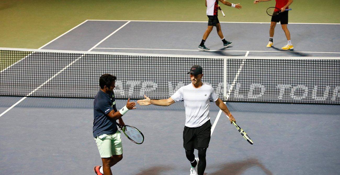 Dubai Tennis - Paes and Cerretani