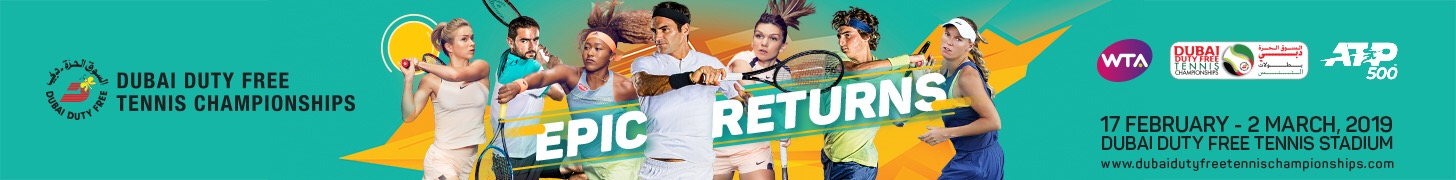 Ad for Dubai Duty Free Tennis Championships