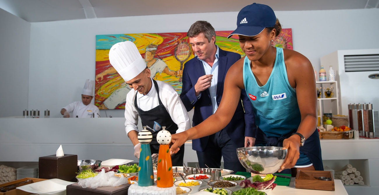 Photo of Naomi Osaka and Chef Ramola Bijendra from Jumeirah Creekside Hotel