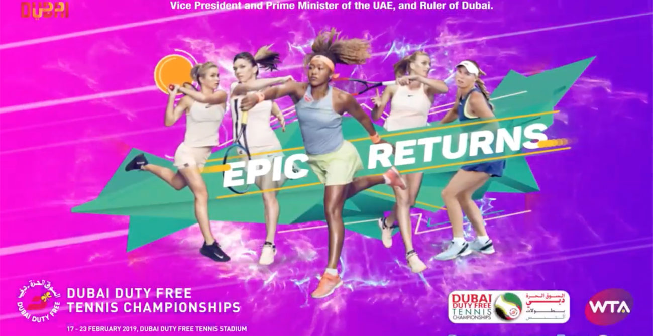 Photo of poster for 2019 Dubai Duty Free Tennis Championships women's week